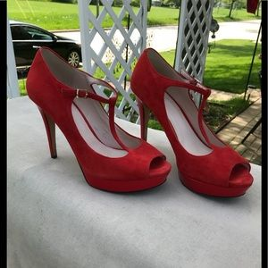 Vince Camuto red heels.